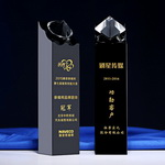 black crystal diamond trophy award
