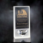 frosted crystal diamond award plaque
