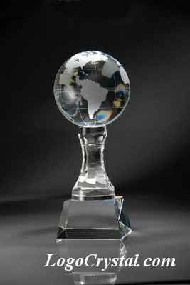 business crystal globe awards