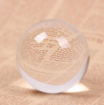 3 inches clear k9 glass ball