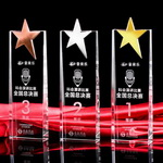 3 places crystal star trophy award