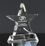3d golf player laser etched crystal paper weight