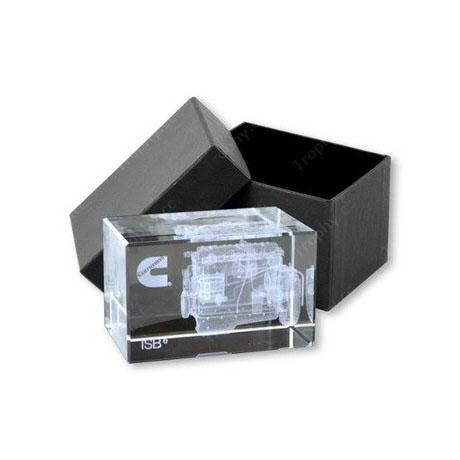 3D Laser Etched Crystal Glass Cubes