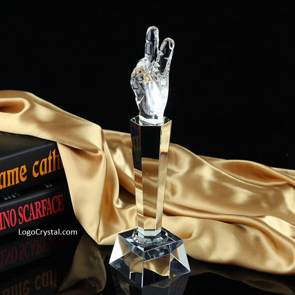 Customized Crystal Plaque Cups, Laser Engraving Crystal Awards.