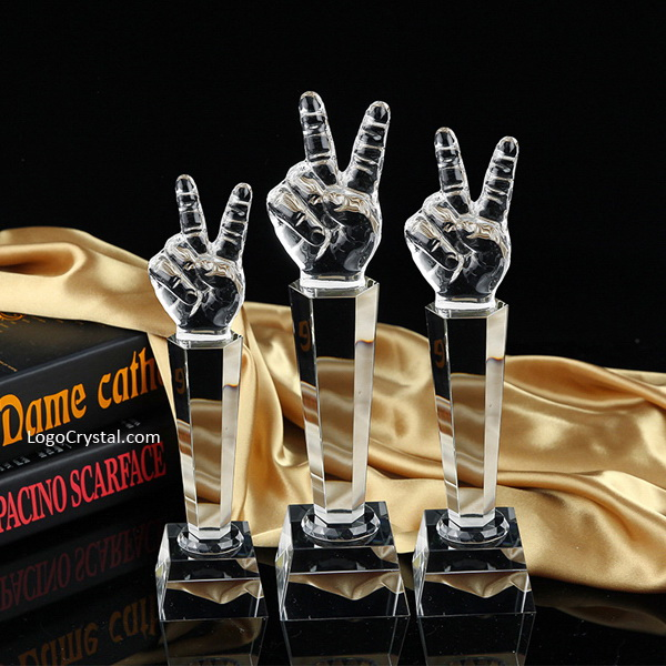 """12"""" Optical Crystal American Voice Trophy Awards, Top Quality Music Vocals Voice Cup Microphone Award"""