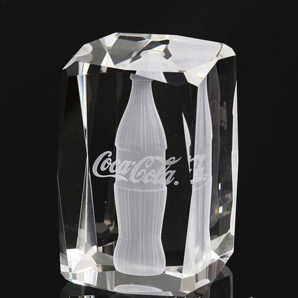 Coca-Cola Crystal Souvenirs, Coca Cola Anniversary Gifts, Coke Business Gifts