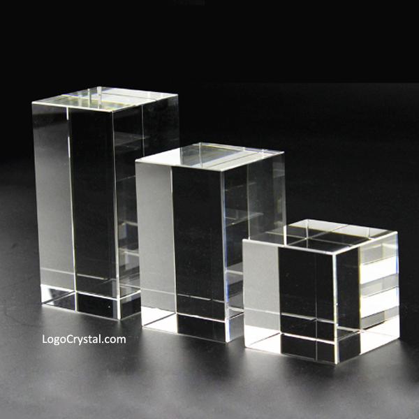 """Blanc de cristal cubique de 50 mm (2 pouces), bloc de cristal rectangulaire K9 de 50 x 50 x 80 mm (3 """"), blanc pour un verre optique de 50 x 50 x 100 mm (4"""")"""