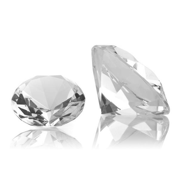 Presse-papiers en cristal de diamant, presse-papiers en diamant K9 de cristal, poids de papier en diamant de cristal de laser