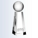 overall height 10 inches golf award 3d laser engraved golf woman