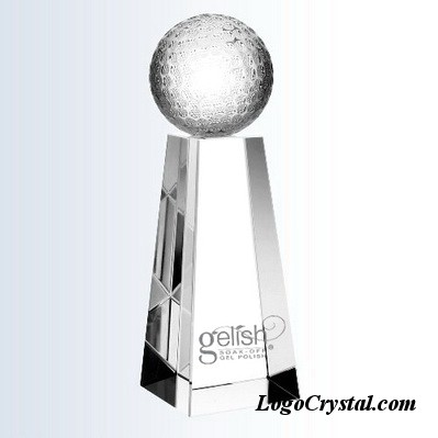 trapeziform crystal golf awards