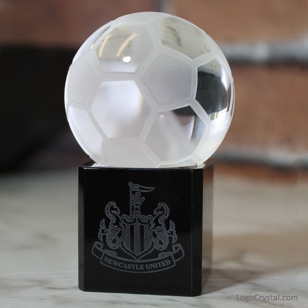 Souvenir di cristallo personalizzato regali di Newcastle United Football Club