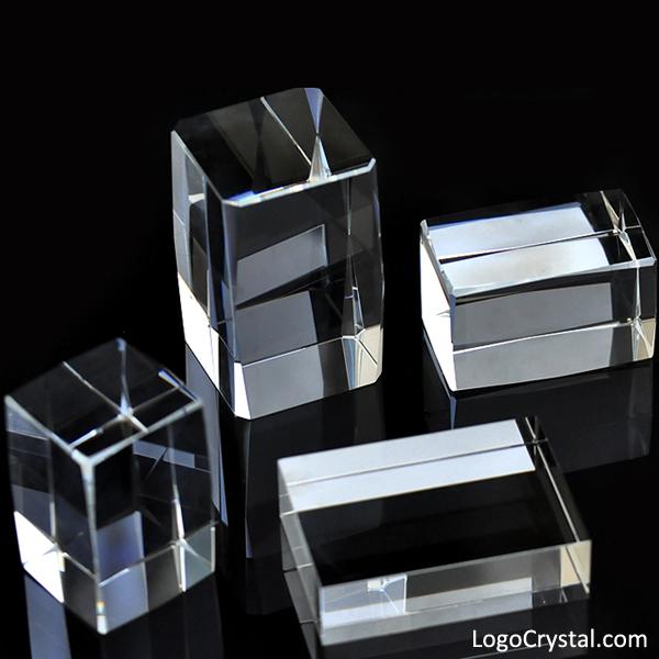 Cubi di vetro ottico, cristalli K9, blocchi di cristallo ottico, cubi di cristallo vuoti