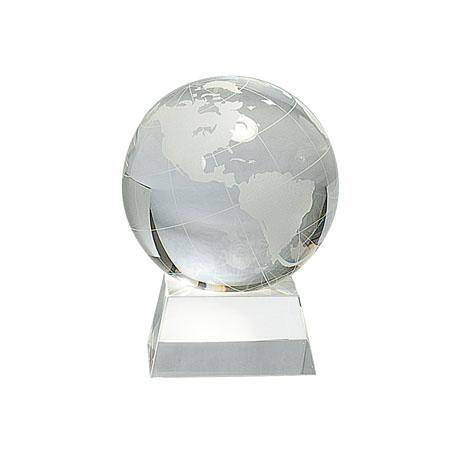 クリスタル地球儀