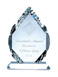 engraved crystal recognition awards