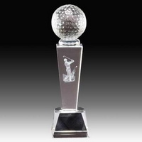 custom golf crystal award